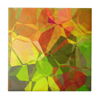 Abstract Polygons 101 Ceramic Tile