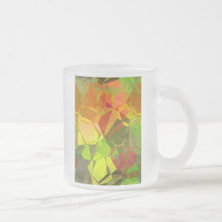 Abstract Polygons 101 Frosted Glass Coffee Mug