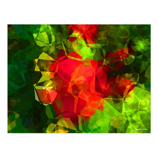 Abstract Polygons 10 Postcard