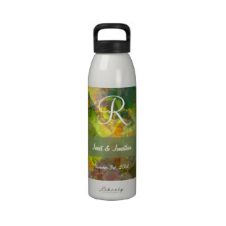 Abstract Polygons 11 Monogram Drinking Bottles