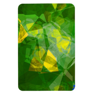 Abstract Polygons 133 Rectangular Magnet
