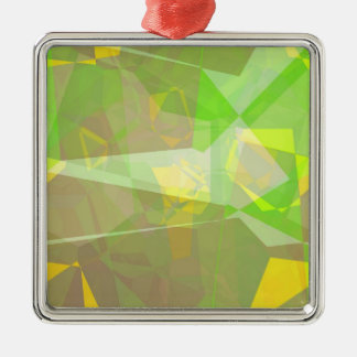 Abstract Polygons 141 Metal Ornament