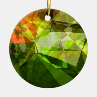 Abstract Polygons 157 Ceramic Ornament