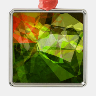 Abstract Polygons 157 Metal Ornament