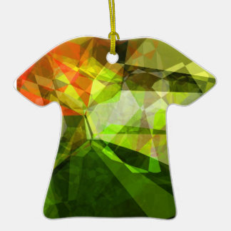 Abstract Polygons 157 Christmas Tree Ornament