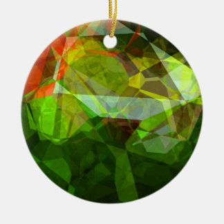 Abstract Polygons 158 Ceramic Ornament