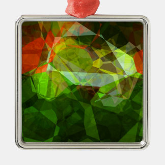 Abstract Polygons 158 Metal Ornament
