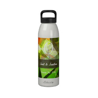 Abstract Polygons 159 Monogram Water Bottles