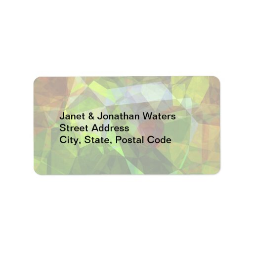 Abstract Polygons 160 Personalized Address Label