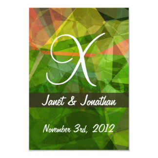 Abstract Polygons 162 Monogram Card