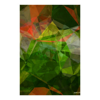 Abstract Polygons 162 Poster