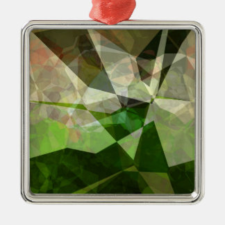 Abstract Polygons 163 Metal Ornament