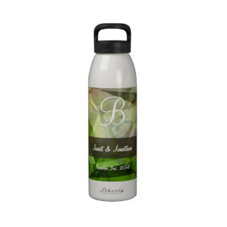 Abstract Polygons 164 Monogram Reusable Water Bottle