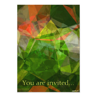 Abstract Polygons 18 Invitation