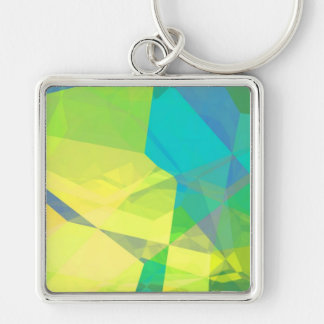 Abstract Polygons 190 Keychain