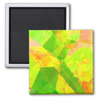 Abstract Polygons 202 2 Inch Square Magnet
