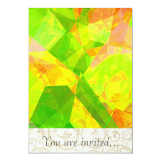 Abstract Polygons 202 5x7 Paper Invitation Card