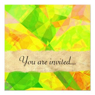 Abstract Polygons 202 Invitation