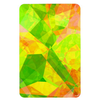 Abstract Polygons 202 Rectangular Photo Magnet