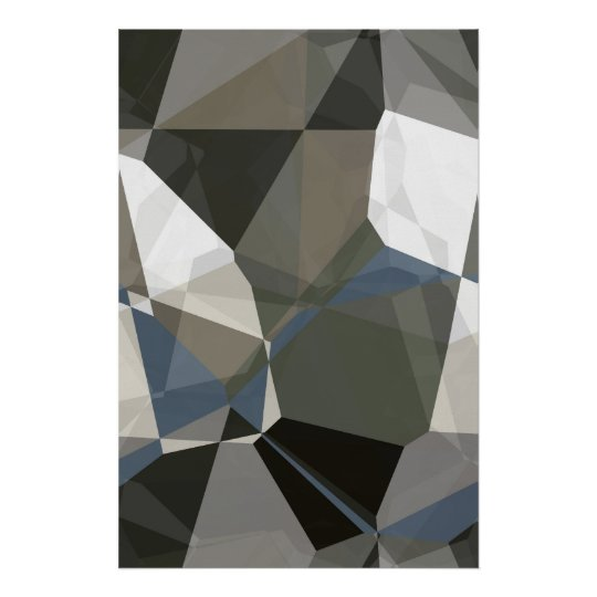 Abstract Polygons 214 Poster
