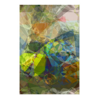 Abstract Polygons 224 Poster