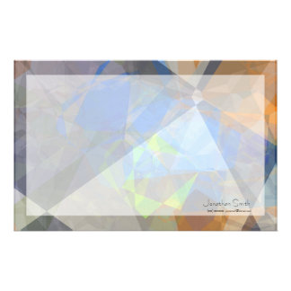 Abstract Polygons 235 Personalized Stationery