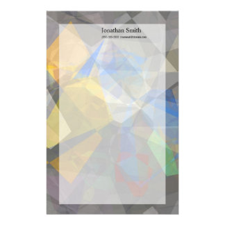 Abstract Polygons 236 Personalized Stationery