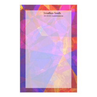 Abstract Polygons 237 Personalized Stationery