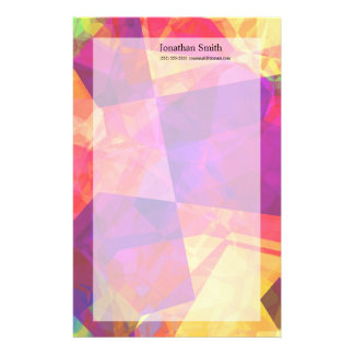 Abstract Polygons 238 Custom Stationery