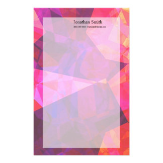 Abstract Polygons 239 Custom Stationery