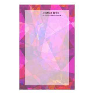 Abstract Polygons 240 Custom Stationery