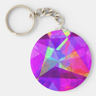Abstract Polygons 241 Keychain