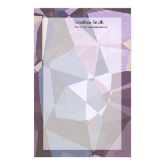 Abstract Polygons 243 Customized Stationery