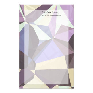 Abstract Polygons 246 Stationery Paper