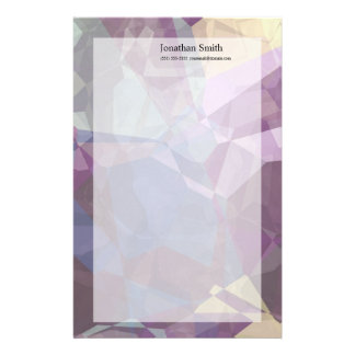 Abstract Polygons 248 Customized Stationery