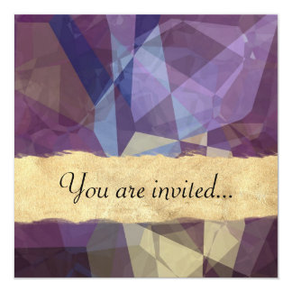 Abstract Polygons 250 Personalized Announcement