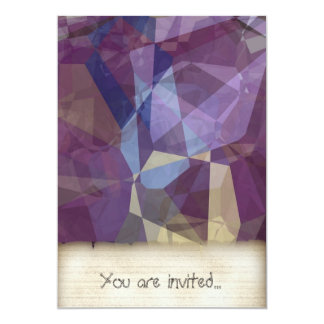 Abstract Polygons 250 Personalized Invite