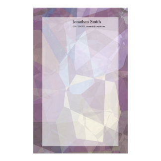 Abstract Polygons 250 Stationery Paper