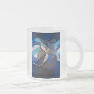 Abstract Polygons 253 Frosted Glass Coffee Mug