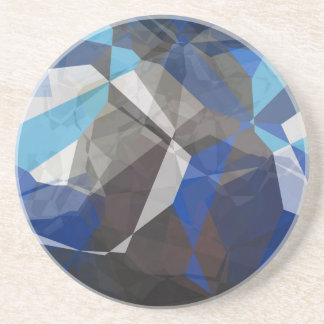 Abstract Polygons 253 Sandstone Coaster