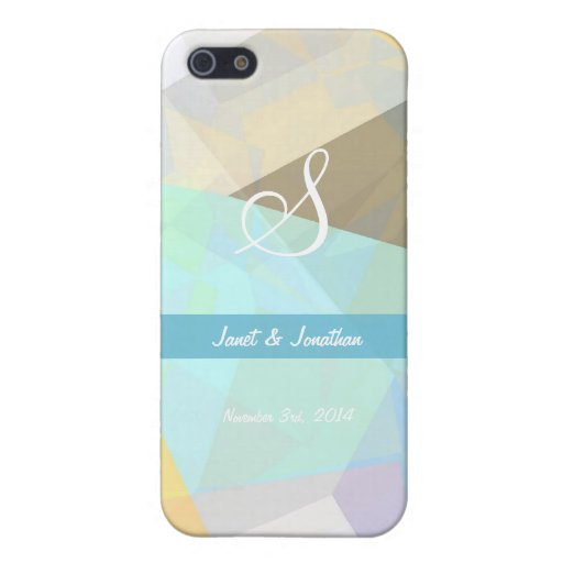 Abstract Polygons 29 Customizable Monogram Cover For iPhone 5