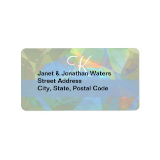 Abstract Polygons 39 Customizable Monogram Address Label