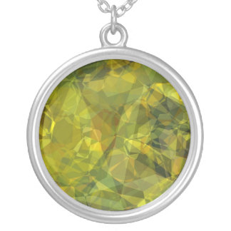 Abstract Polygons 3 Round Pendant Necklace