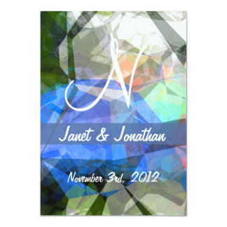 Abstract Polygons 41 Customizable Monogram Cards