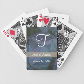 Abstract Polygons 47 Customizable Monogram Bicycle Playing Cards