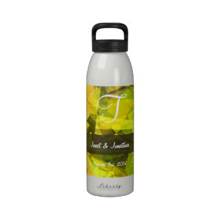 Abstract Polygons 4 Monogram Water Bottle