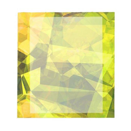Abstract Polygons 4 Memo Notepad