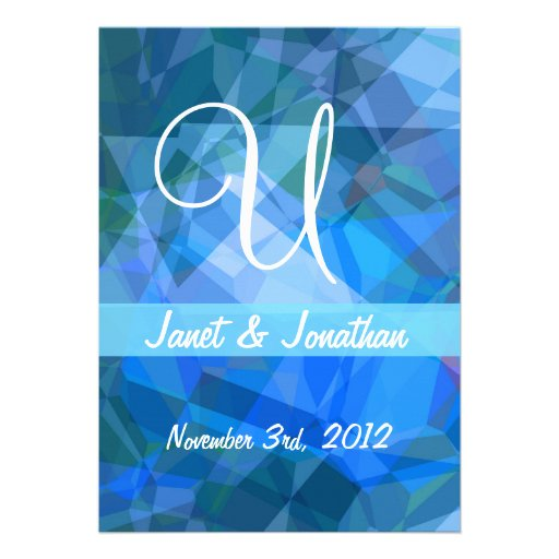 Abstract Polygons 51 Customizable Monogram Personalized Invites