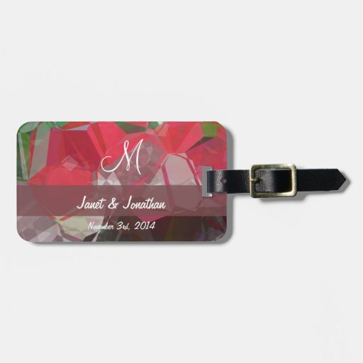 Abstract Polygons 55 Customizable Monogram Tags For Luggage