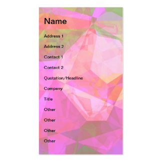 Abstract Polygons 5 Business Card Template